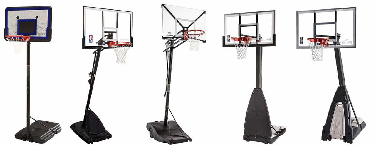 "Spalding 54/"" Portable Basketball System Adjustable Hoop Backboard Net Pole 66291"